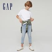 Gap男童 純棉質感厚磅短袖T恤 764972-白色