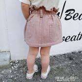 女童半身裙 女童裝花苞韓版休閒兒童牛仔短裙女寶寶半身裙子1-2-3-456歲 傾城小鋪