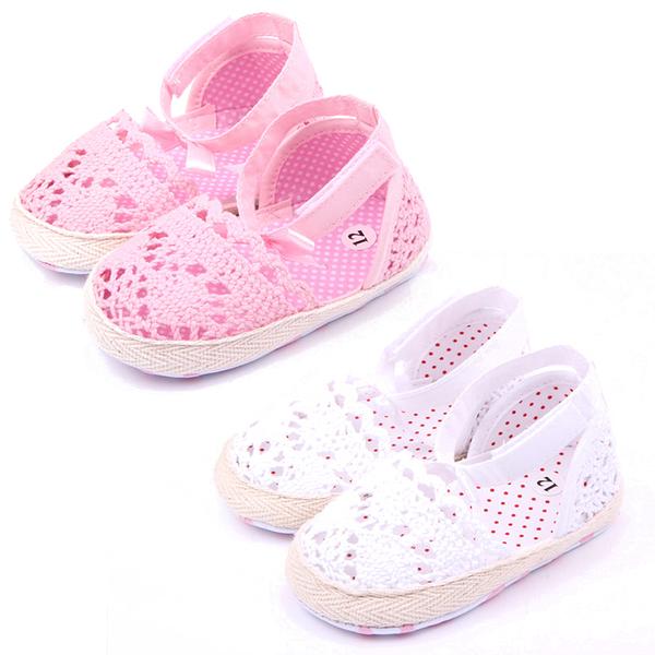 女寶寶涼鞋 寶寶鞋 學步鞋 透氣編織 軟底防滑嬰兒鞋 (11-13cm) MIY1584 好娃娃