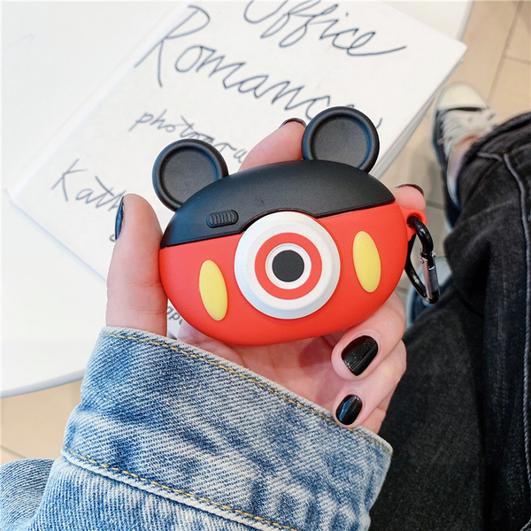 Airpods Pro 專用 台灣發貨 [ 圓圓的米奇米妮相機 ] 藍芽耳機保護套 蘋果無線耳機保護
