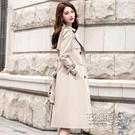 休閒氣質風衣女秋新款中長款韓版寬鬆顯瘦外套英倫風大衣流行 雙十二全館免運