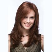 長假髮(整頂假髮)-棕色挑染中分捲髮女假髮73vl53【時尚巴黎】
