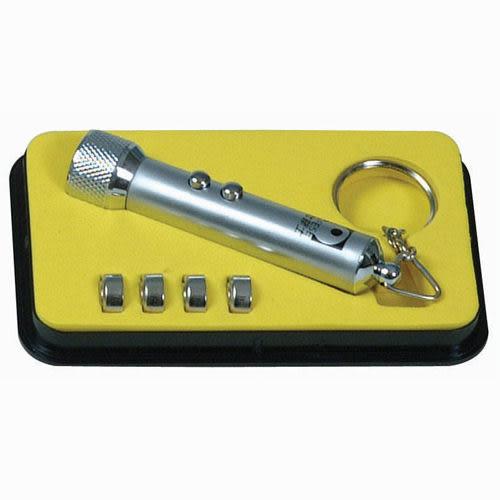 歐菲士燈光雷射兩用(5顆LED+雷射)*銀色LP_501