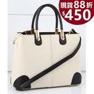 手提包 新款時尚側背斜背手提包包 6色(附側背帶) ST98518-寶來小舖Bolai shop -現貨販售