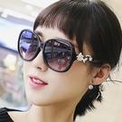 太陽鏡 墨鏡女潮明星款個性眼鏡墨鏡新款優雅太陽鏡女士圓臉正韓防紫外線
