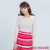 RED HOUSE-蕾赫斯-蝴蝶結珍珠針織上衣(共2色)