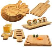 披薩板木托盤燒烤小吃西餐牛排盤實木壽司方形竹木披薩盤 igo
