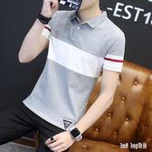 夏季新款男士t恤短袖polo衫韓版潮流上衣半軸體桖男帶領子打底衫LN186【bad boy時尚】