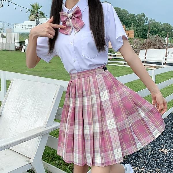 jk2020制服裙正版夏季日系新款學院風套裝女生水手服學生套裝格裙 【中秋節】