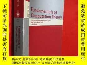 二手書博民逛書店Fundamentals罕見of Computation The