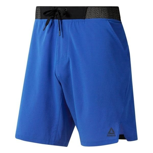 REEBOK TRAINING EPIC KNIT WAISTBAND 男裝 短褲 休閒 柔軟 舒適 藍 【運動世界】 DU4335
