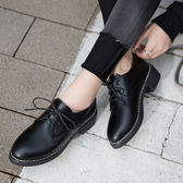 秋冬季新款英倫復古風黑色漆皮小皮鞋百搭韓版單鞋女學生平底女鞋