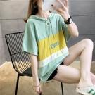 2020春夏新款寬鬆顯瘦短袖連帽T恤女衛衣森女韓版bf原宿風上衣 LF3075『易購3c館』