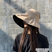 日系防紫外線空頂帽子女夏季薄款黑膠遮陽韓版百搭防曬遮臉無頂帽 居家家生活館