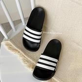 《7+1童鞋》大人款 ADIDAS AQ1701 一體成型 輕量 防水 運動拖鞋 7432 黑色