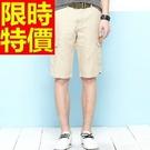 男韓版短褲休閒-俐落有型造型簡單天然亞麻男褲子1色54n11【巴黎精品】