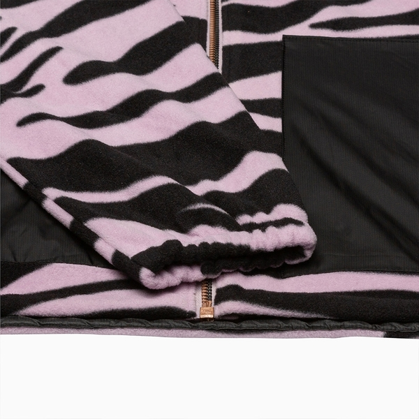 Levis 男款 刷毛外套 / 滑板系列 / 香芋紫斑馬紋