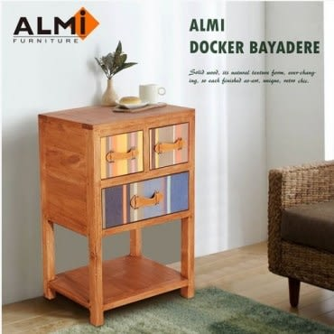ALMI DOCKER BAYADERE-CASUAL TABLE 3 DRAWER