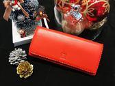 【雪曼國際精品】LOEWE 桃紅色napa特級小羊皮兩折長夾/展示品特價─現貨