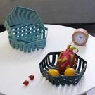 水果籃 北歐創意水果盤零食客廳茶幾家用收納籃現代簡約鏤空水果籃【快速出貨八折鉅惠】