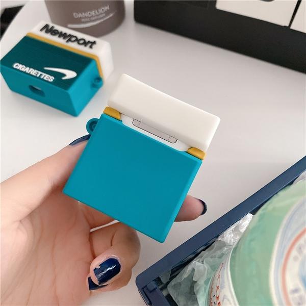 Airpods Pro 專用 1/2代 台灣發貨 [ 惡搞煙盒 ] 藍芽耳機保護套 蘋果無線耳機保護