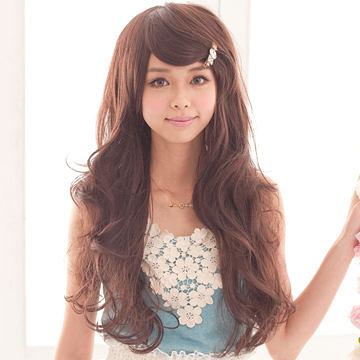 氣質女星甜姐兒侯佩岑微捲髮型【MA036】與日本同步流行擬真係整頂假髮☆雙兒網☆