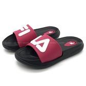 《7+1童鞋》FILA 2-S829U-051 輕量 防水 運動拖鞋 4290 桃色