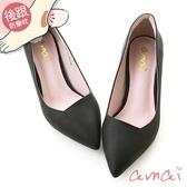 amai就是一雙好穿的粗跟鞋 黑