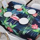 年後出貨◆預購★0215-07火烈鳥ins文藝歐式餐桌布藝棉麻小清新書桌布長方形茶几布台佈(100*160cm)