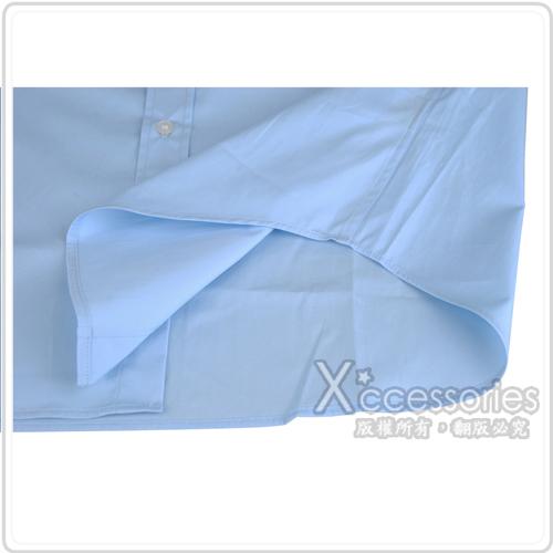 BURBERRY 經典騎士系列長袖襯衫(男/淺藍底淺藍騎士)