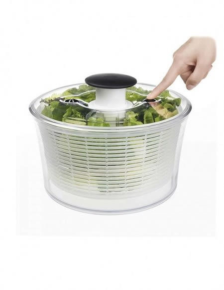 9折限定!!美國OXO 按壓式蔬菜脫水器 新版 (大白)