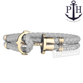 PH PAUL HEWITT / PH-PH-L-M-Gr / PHREP 北方德國船錨牛皮手環 灰x銅