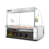 熱銷烤腸機萬卓烤腸機商用烤香腸機全自動小型迷你機器臺灣火腿腸熱狗機家用 智慧e家LX