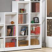 【YFS】克萊兒白色開放四格書櫃-39x30x135cm