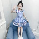 公主裙 童裝女童夏裝新款洋氣兒童短袖女孩裙子韓版夏季 IV1621( 衣好月圓 )