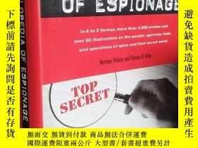 二手書博民逛書店Spy罕見Book: The Encyclopedia of Espionage 間諜手冊 百科全書 【精裝原版,