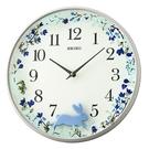 掛鐘 SEIKO精工藍色森林小兔時鐘NV72