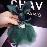 交換禮物-正韓東大門可愛蕾絲裙兔子掛件時尚汽車鑰匙扣掛件女士包包掛飾潮