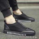 秋季男鞋子帆布鞋男士休閒板鞋韓版潮流一腳蹬懶人蹬布鞋透氣潮鞋 卡卡西