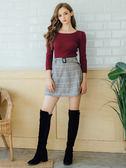 秋冬單一價[H2O]肩膀泡泡袖設計顯瘦超彈羅紋針織毛衣 - 紅/黑/白色 #8630001