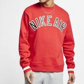 【折後$1899】▶NIKE  AS M NSW NIKE AIR CREW FLC 男休閒學院風 紅 AR1823-657