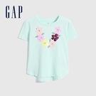 Gap女童 純棉雙面亮片短袖T恤 697503-綠色