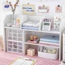 ins化妝品收納盒 學生女辦公用品桌面書桌整理神器分格置物架柜子