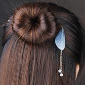 髮插復古風薄紗蟬翼蝴蝶發簪子日常唯美發飾個性簡約氣質飾品仙氣頭飾 免運直出 交換禮物