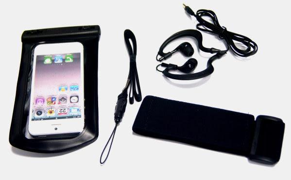 iPHONE5 5專用防水袋 游泳 運動防水臂套 送防水耳機 內建耳機孔3.5mm耳機的手機可用 防水運動臂套