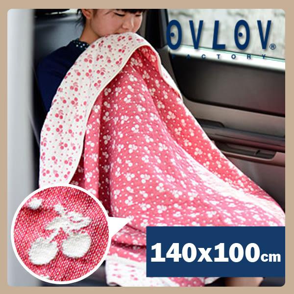 日本製六層紗單人童被-小櫻桃(紅) OVLOV C-BKT-4021-RD-M