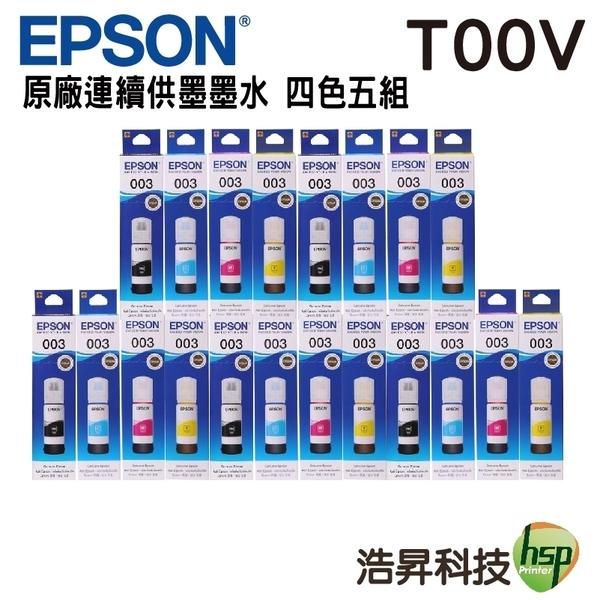 EPSON T00V 四色五組 原廠填充墨水 盒裝 適用L1110 L3110 L3116 L3150 L5190 L5196