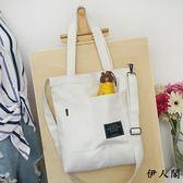原創韓國帆布包女單肩斜挎包購物包袋