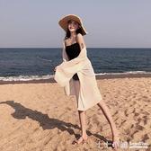 泰國度假外搭雪紡防曬衣女夏季百搭海邊沙灘輕薄飄逸百褶開衫外套