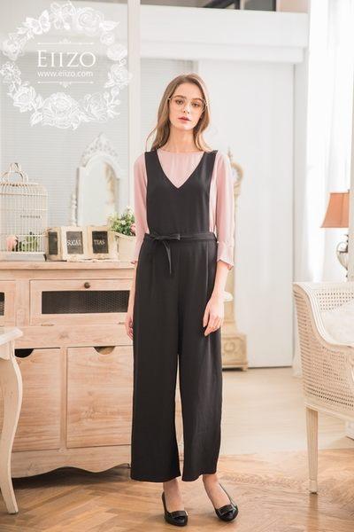 【EIIZO】個性風格寬版連身長褲(抹茶綠)
